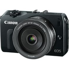 Canon EOS-M with 22mm EF-M f/2 STM Lens, rent compact dslr