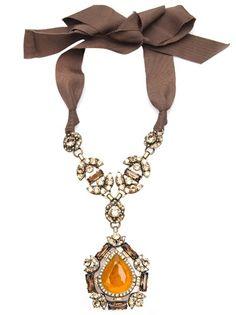 LANVIN Teardrop Crystal Necklace