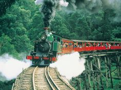 Puffing Billy Steam Train, Melbourne, Australia