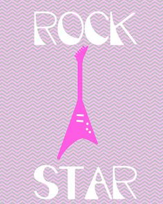 $0.00 Free Rock Star printable from kindredcreations.com