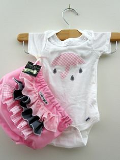 Lovely Showers Pink -ruffle diaper covers gift set. $22,50