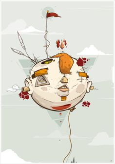 Beautiful vector illustrations by Christian Schupp aka ARO | From up North