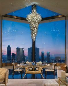 Dinner overlooking the city