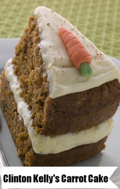 Clinton Kelly's carrot cake recipe with whipped cream cheese frosting