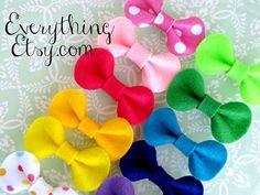 ateli cherri, bow tutorial, felt bow, gift bows, hair bows, cherries, diy, crafts, atelier
