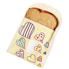 Stop throwing baggies away! Color a reusable organic-cotton Eco-Ditty snack bag.