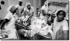 Black physicians treating a member of the Klan in the ER. This picture blows my mind.