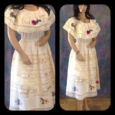 Handmade Vintage Dresses & Skirts - Mexican Wedding Dress