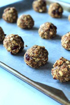 A healthy nutrient packed snack filled with fall flavors, No Bake Pumpkin Spice Energy Bites. | www.joyfulhealthyeats.com #ad #bh #fall #hea...