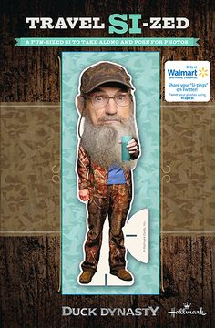 Take Uncle Si with you wherever you go with Travel Si-zed! #DuckDynasty