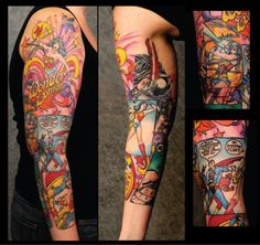 OMG.. Wonder Woman Comic tattoos...I'm in love!!!!!!!