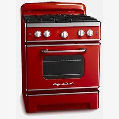 retro  red stove