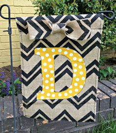 Personalized Burlap Garden Flag by craftycreations2 on Etsy, $20.00