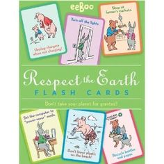 Respect the earth flash cards!