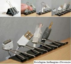 Organize wires, life hacks