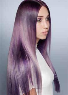 We love this violet Eclipting Color look by Aveda Global Artistic Director for Aveda Color Ian Michael Black- now on Modern Salon.