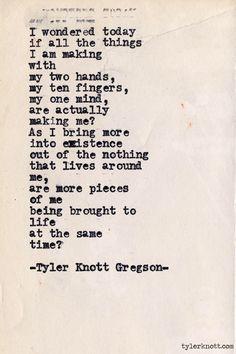 by Tyler Knott Gregson