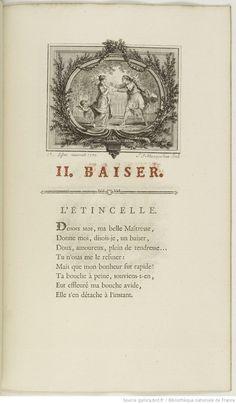 Les Baisers, précédés du mois de Mai, by Claude Joseph Dorat, 1770; avec un supplément à lédition des Baisers.