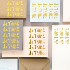 { Je T'aime note set }