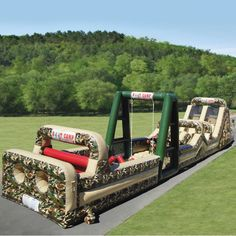 The 85 Foot Inflatable Military Obstacle Course - Hammacher Schlemmer ***My kids would love this***