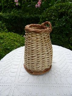 vintage shrimps basket in water willow of two by Lepapadesmatous, $50.00