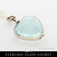 Sterling Silver Glass Locket - Heart Find at www.anniehowes.com
