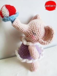 Babygirl Elephant Crochet Pattern PDF by AmigurumiByAhmaymet, $4.99