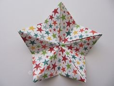 Origami Modular 5-pointed Star Folding Instructions