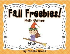games, classroom, idea, happi octob, fall math, math freebi, kindergarten, halloween math, pumpkin number