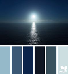 set blue, color palettes, design seeds, color schemes, charact design, dark blue color palette, sea, blues, blue theme rooms