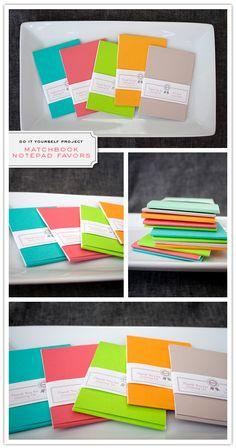matchbook notebook favors