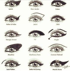 types of eye make up and liner looks