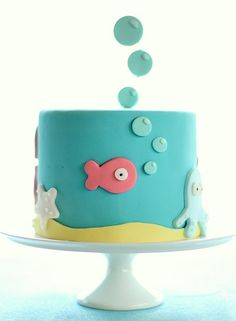 under the sea baby shower cake. Or first birthday smash cake.