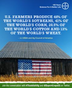 Click through and share great facts about agriculture with your followers. We'll donate 4 meals to World Food Program USA for each item you share on Pinterest, Twitter or Facebook!