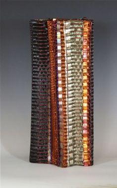 Frances Solar   FSolar-Vessel 4. Loom woven, copper wire, copper strip,heat patina
