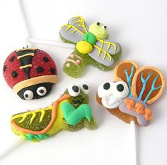 pretty bugs lollies