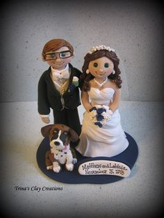 OMG> I want this!! Can you imagine a little Emmy??!!! Wedding Cake Topper Custom Wedding Topper by trinasclaycreations, $165.00