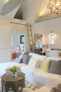 Conversion of a small detached garage to an office and guest suite. Molly Frey Design