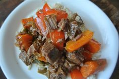 Slow-Cooked Gingered Beef and Vegetables - Low FODMAP