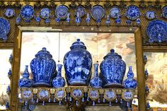 Charlottenburg Palace in Berlin displaying collection of Blue and White Chinese porcelain