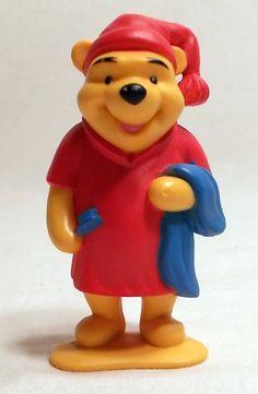 Disney Winnie Pooh - Bedtime / Pajamas / Sleep PVC Toy Figure