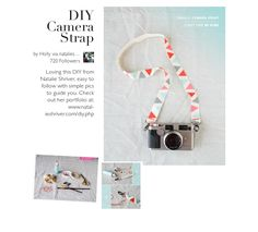 DIY Camera Strap @Amazine #DIY #camera #strap this is idea for mom to make?? maybe sunflower or camera or denim pattern??