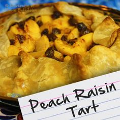 Recipes for Diabetes: Peach Raisin Tart