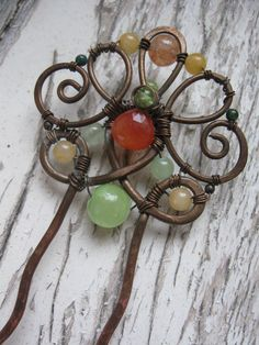 wire wrapped hair piece - Google Search