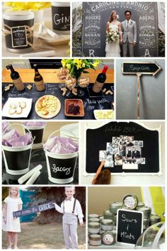 chalk board wedding decorations, accessories, and favors