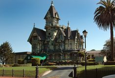 Old house, Carson Mansion located in Eureka California. An eclectic mix of adornment prominently in the Queen Anne style. With the Queen Anne style in America, more is never too much. (I'll disagree)