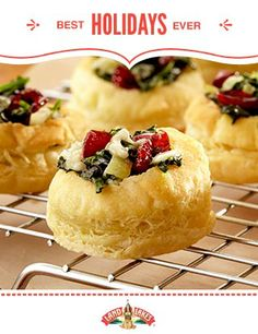 Every good holiday host has a signature appetizer recipe. These Cranberry Spinach Blue Cheese Puffs could be yours. #BestHolidaysEver