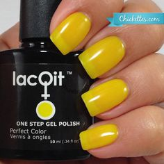 Good Morning Sunshine!  One step 30 second cure no-wipe gel nail polish www.lacqit.com  tx to @chickettes ☺️