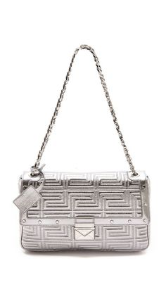 Shop now: Versace Quilted Chain Shoulder Bag