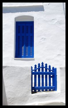 blue and white Sifnos Cyclades, Greece
